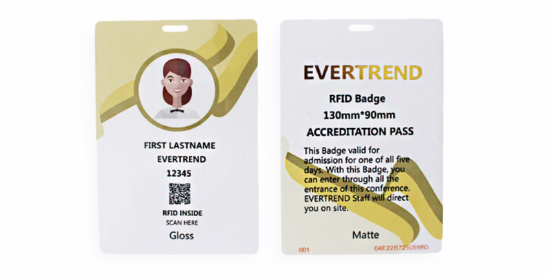 RFID VIP Badge - With Foil