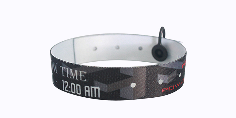 RFID Fabric Wristband - Adjustable Lock